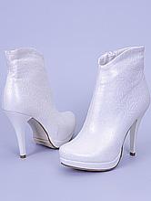 обувь на свадьбу, свадебные полусапожки ботильоны цвета айвори фото, цены, каталог