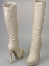 обувь на свадьбу, купить высокие свадебные сапожки цвета айвори, фото, цены, интернет-магазин