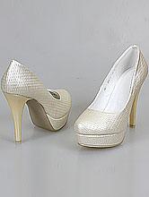 обувь на свадьбу, свадебные туфли цвета айвори (шампань, светло-бежевого, кремового), купить недорого в москве, фото