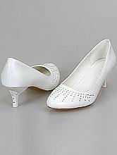 свадебная обувь, свадебные туфли на низком каблуке со стразами, фото, каталог и цены