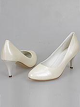 свадебная обувь, классические свадебные туфли-лодочки цвета айвори (шампань, светло-бежевого, кремового)