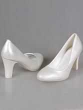 свадебная обувь, свадебные туфли на толстом каблуке кремового цвета (светлый бежевый, айвори, шампань)