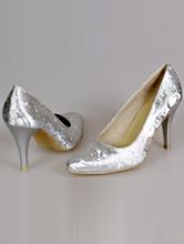 свадебная обувь,серебристые свадебные туфли на среднем каблуке, фото, каталог, интернет-магазин, 2017