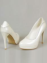 туфли для невесты цвета айвори (шампань, кремовый, светло-бежевый) на небольшой платформе, украшенные стразами