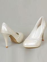 купить свадебные туфли цвета айвори (шампань, светло-бежевый) маленького размера