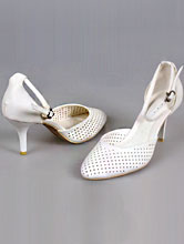 заказать открытые туфли-босоножки белого цвета на свадьбу