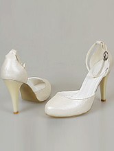 открытые свадебные туфли на высоком каблуке цвета айвори (шампань, кремовый, светло-бежевый), фото, интернет-магазин