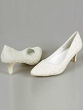 свадебная обувь, туфли для невесты цвета айвори (шампань, светло-бежевый, кремовый) большого размера