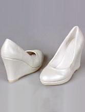 свадебные туфли цвета айвори на танкетке, купить, цены