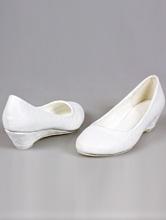 белые балетки на танкетке для невесты, москва, фото