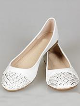 свадебная обувь, свадебные балетки, украшенные стразами
