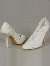свадебные туфли-лодочки из гипюра цвета айвори (шампань, светло-бежевый), фото, каталог
