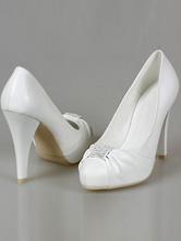 белые туфли на высоком каблуке и стразовой вставкой, фото, каталог