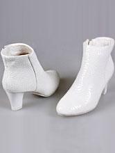 сапоги молочного цвета маленьком каблуке, купить, каталог