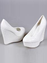 6bc45c0b1 свадебные туфли молочного цвета на высокой танкетке, купить с доставкой