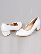 купить белые свадебные туфли больших размеров на маленьком устойчивом каблуке, с доставкой и в салоне, москва