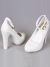 обувь на свадьбу, свадебные туфли на толстом высоком каблуке, фото, каталог и цены