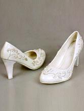 белые туфли больших размеров с бисером, каталог 2017