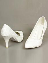 белые свадебные туфли с рифленой поверхностью в виде розочек, фото, недорого