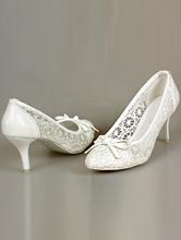 обувь на свадьбу, свадебные туфли белого цвета с кружевом, фото, каталог и цены