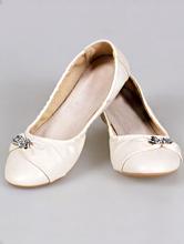 балетки цвета айвори с серебристой брошкой на свадьбу найти