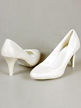 туфли-лодочки цвета айвори (шампань, светло-бежевый) на среднем каблуке с рифлением