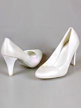 гладкие туфли-лодочки цвета айвори (шампань, светло-бежевый) на среднем каблуке
