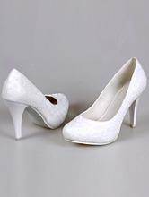 95ee4f464 купить в москве белые свадебные туфли с рисунком на скрытой платформе