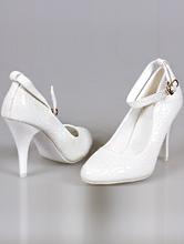 молочные свадебные туфли с застежкой, купить в интернет-магазине, фото