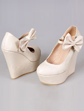 обувь на свадьбу, свадебные туфли на танкетке, фото, каталог и цены
