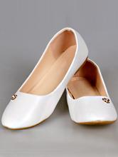 белые балетки больших размеров, каталог, цена