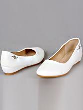 белая свадебная обувь на маленькой танкетке, каталог, фото