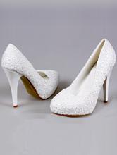 кружевные белые туфли на высоком каблуке и скрытой платформе, каталог