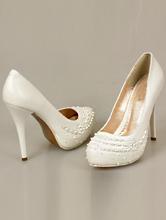 белые туфли на платформе с бисером, фото, цена