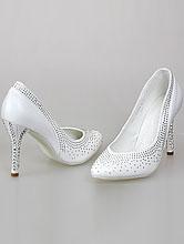 свадебная обувь, купить белые туфли со стразами