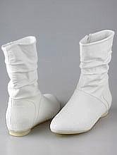 свадебная обувь для беременной, свадебные сапожки без каблука, фото и цены