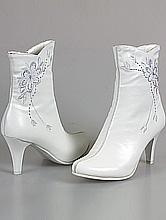 женская обувь свадебная, белые свадебные сапоги