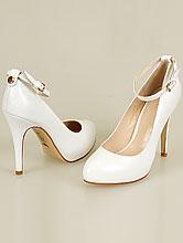 кожаная свадебная обувь для невесты, белые свадебные туфли