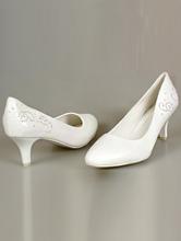 свадебная обувь, белые туфли на среднем каблуке, фото, каталог с ценами