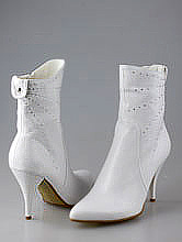 белые сапоги на свадьбу со стразами, свадебная обувь магазин москва