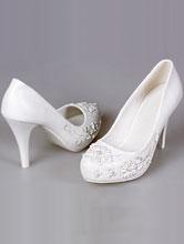 обувь на свадьбу, свадебные туфли с жемчужинами, фото, каталог и цены