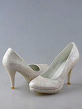 туфли свадебные повседневные айвори, свадебная обувь недорого фото