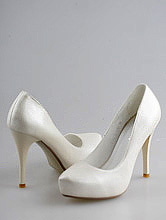свадебные туфли на платформе, свадебная обувь для невесты в москве